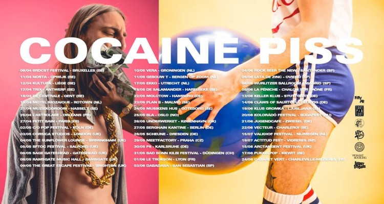 Cocaine piss – tour dates !